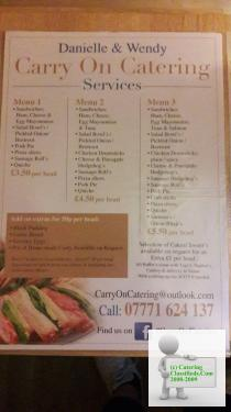 Carry on Catering offers excellent food and excellent service