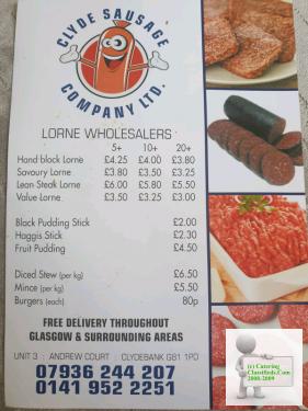 CATERING WHOLESALERS(cafe,deli,snackvan,butcher,sausage)