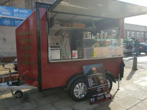 CATERING TRAILER JACKET POTATO BURGER VAN MOBILE FOOD.