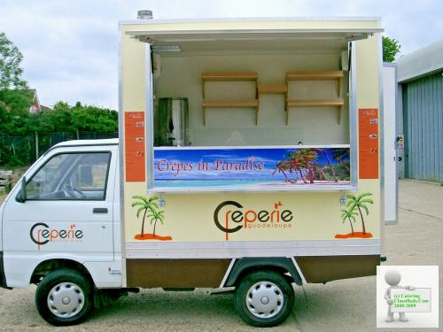 Brand New Chassis Cab Crepe Catering Trailer for Sale
