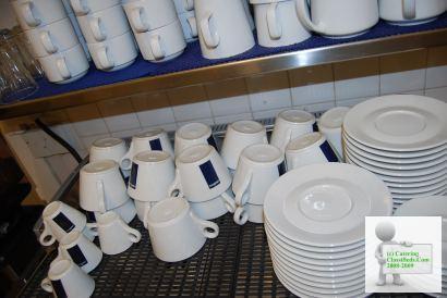 Job lot 23x Lavazza coffee cups and saucers, 5x espresso