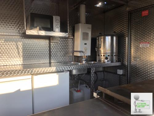 Stainless catering trailer