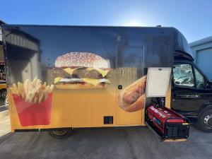 Drivable Burger van Catering van
