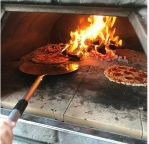 Wood fire pizza van catering unfinished project street food van