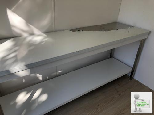 Stainless steel table worktop NEW