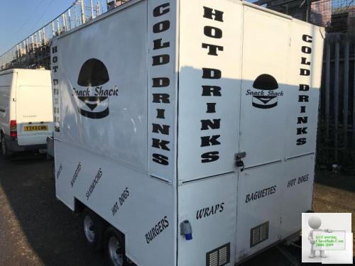 Twin wheel catering trailer