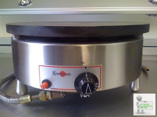 Krampouz Crepe Pancake Maker De-Luxe Model