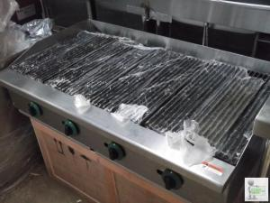New 4 Burner LPG or Natural Gas Char Broiler 4 Burner American style