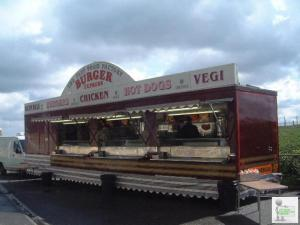 CATERING TRAILER, BURGER HIGH OUTPUT FAST FOOD UNIT.